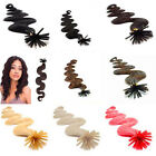 """AAA 22""""-26"""" Remy Human Hair Stick I-Tip Wavy Curly In Extensions 100s 1g/s 100g"""