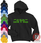 Naughtees Clothing On The 8th Day God Created Drum And Bass Club Music Hoodie