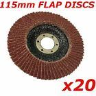 20 x  Flap Discs 115mm x 22.2mm, sanding discs, abrasive wheel for angle grinder