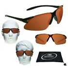 Golf Sunglasses HD Vision Blue Blocker Sport Blade Cycling Driving Amber Glasses