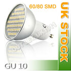 12X GU10 60/80 SMD LED Aluminum Shell Glass Cover Wide Angle Downlight Bulb Lamp
