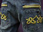NEW AUTHENTIC MEN'S CROWN HOLDER BLUE WASH JEAN SHORTS HR51733SH SIZE 32 TO 38