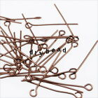 Wholesale Assorted Colors Iron Charms Eyepins Fit Jewelry Making Findings 26mm