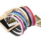Glitter Candy Color Girls Leather Plastic Glitter Headband Hair Band
