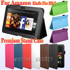 """Premium Leather Stand Case Cover Pouch For Amazon Kindle Fire HD 7"""" Tablet"""