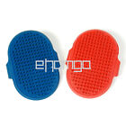 Dog Cat Pet Soft Grooming Hair Brush Oval Rubber Adjustable Strap Bath Comb 007