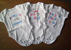 3x Pack Baby Boy Printed Body/Sleep/Play Suits/Popper Vests Short Sleeve 0-24 m