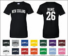 Country of New Zealand Custom Personalized Name & Number Woman's T-shirt