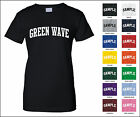 Green Wave College Letter Woman's T-shirt