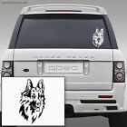 German Shepherd/Alsatian Dog Car/Bamper/Window/Laptop Vinyl Sticker 20cm x 13cm