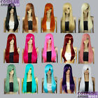 28 inch Heat Resistant ALL COLOR Straight Long Cosplay Wigs