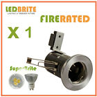 FIRE RATED PRESSED LED DOWNLIGHT 240V MAINS GU10 FIXED 3W - 6W DIMMABLE