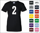 Number 2 Two Sports Number Woman's Jersey T-shirt Front Print