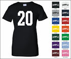 Number 20 Twenty Sports Number Woman's Jersey T-shirt Front Print