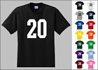 Number 20 Twenty Sports Number Youth Jersey T-shirt Front Print
