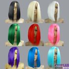 14 inch Heat Resistant ALL COLOR All around same Length Cosplay Wigs