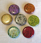 LOT 6 BOUTONS 1/2 BOULE PERLE BIJOUX Cristaux Brillants - 15mm - COUTURE TRICOT