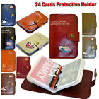 NEW 10 COLOUR PU LEATHER WALLET FLIP BUSINESS ID CREDIT CARD HOLDER CASE COVER