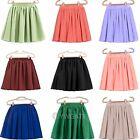 New Womens Retro Double Chiffon High Waist Short Pleated Mini Skirt Dress