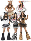 Ladies Fever Sexy Animal Fancy Dress Costumes Womens Hen Party Outfit Jungle Zoo