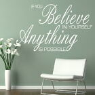 Anything Is Possible - Removable Wall Quote / Large Interior Wall Quote niq18