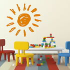 Big Sun Nursery Wall Sticker /Large Bedroom Decor / Nursery Wall Transfer KI8