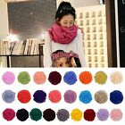 Women Girls Pure Candy Colour Crinkle Long Soft Scarf Wrap Shawl Stole Wholesale