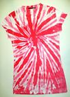 Sublimation T-Shirts Twist Red Junior S, M L XL, polyester, Short Sleeve