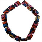 1/6strings Hotsale Multicolor Rectangle Flower Faux Shell Charms Loose Beads