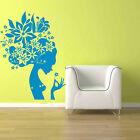 Wall Art Removable Vinyl Decal Sticker Floral Flower Hair Girl Room
