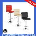 NEW Chester Breakfast Kitchen Leather Bar Stool Barstools Chrome Gas Lift