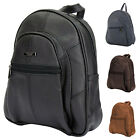 Ladies Genuine Leather Backpack - Rucksack with Safety Zip Compartment