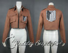 New Attack on Titan Shingeki no Kyojin Recon Corps / Army Coat / Top Jacket
