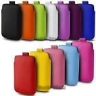 PU LEATHER PULL TAB POUCH CASE COVER  FOR VARIOUS  MOBILE PHONES