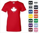 Maple Leaf Canadian Flag Symbol Icon Canada Maple Tree Funny Woman's T-shirt