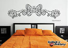 bedrooms with teal walls - BUTTERFLY WITH HEARTS Vinyl Wall Decal bedroom decor art pinstripe curls B067