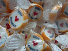 GOLD JUST MARRIED ROCK SWEETS WEDDING FAVOURS WRAPPED