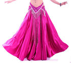 New Belly Dance Costumes Satin Long Skirt Swing Skirt Dress 14 Colors