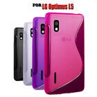 NEW 4 COLOUR SOFT RUBBER GEL PHONE CASE COVER FOR LG OPTIMUS L5 E610 E612 E615