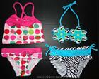 SWIMSUIT Girls 12 18 24 Months Bathing Swim Suit Tankini Bikini Cherry Zebra