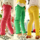 New Size 2-7Y Girls Pants Kids Holes Slender Candy Cotton  Pencil Pants PG018