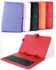"For 10.1""  Tablet PC Leather Stand Case Micro USB Keyboard Cover Multi-Color"