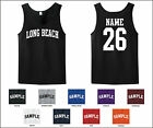 City of Long Beach Custom Personalized Name & Number Tank Top Jersey T-shirt