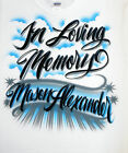 Airbrush T Shirt With In Loving Memory, In Loving Memory Shirt, Airbrush Shirt
