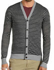 NWT $225 Theory Lightweight Linen Blend Cardigan in Black & Gray