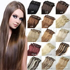 "NEW Full head clips in remy real human hair extensions AAA grade 14""-30"""
