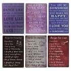 Shabby Chic Rustic Vintage Sayings Recipe Metal Signs and Plaques