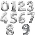 """16"""" 40"""" aluminum foil numbers 0-9 gold silver balloon wedding party balloon DIY"""