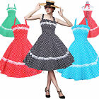 Maggie Tang 50s 60s Vintage Dancing Swing Rockabilly Party Dress Skirt Polka Dot