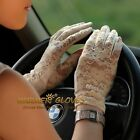 Lady's Sexy Wrist lace UV Prevention Sun Block Bridal wedding dressing gloves